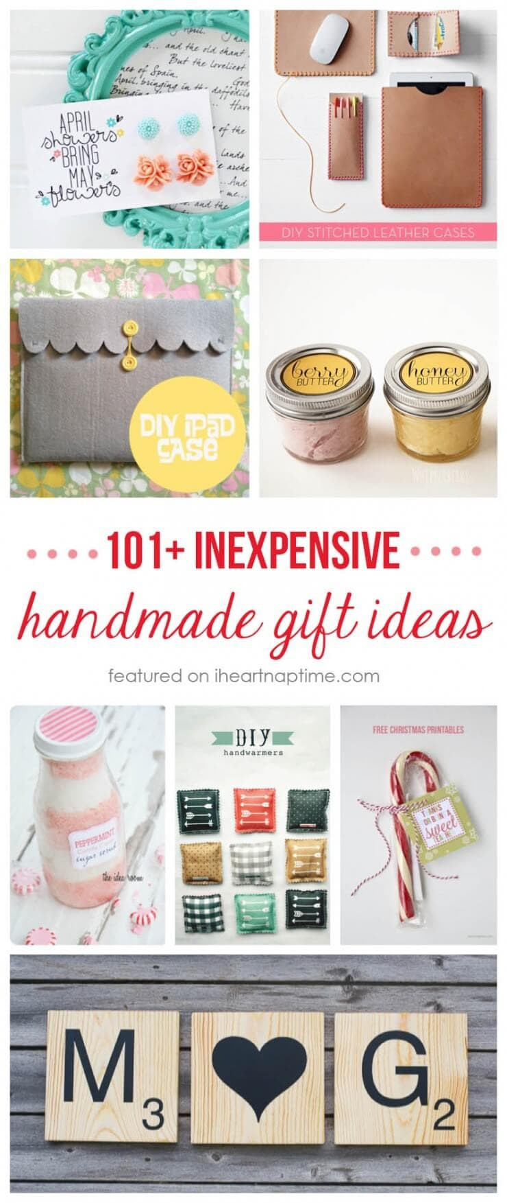 Best ideas about Cheap Holiday Gift Ideas . Save or Pin 50 homemade t ideas to make for under $5 I Heart Nap Time Now.