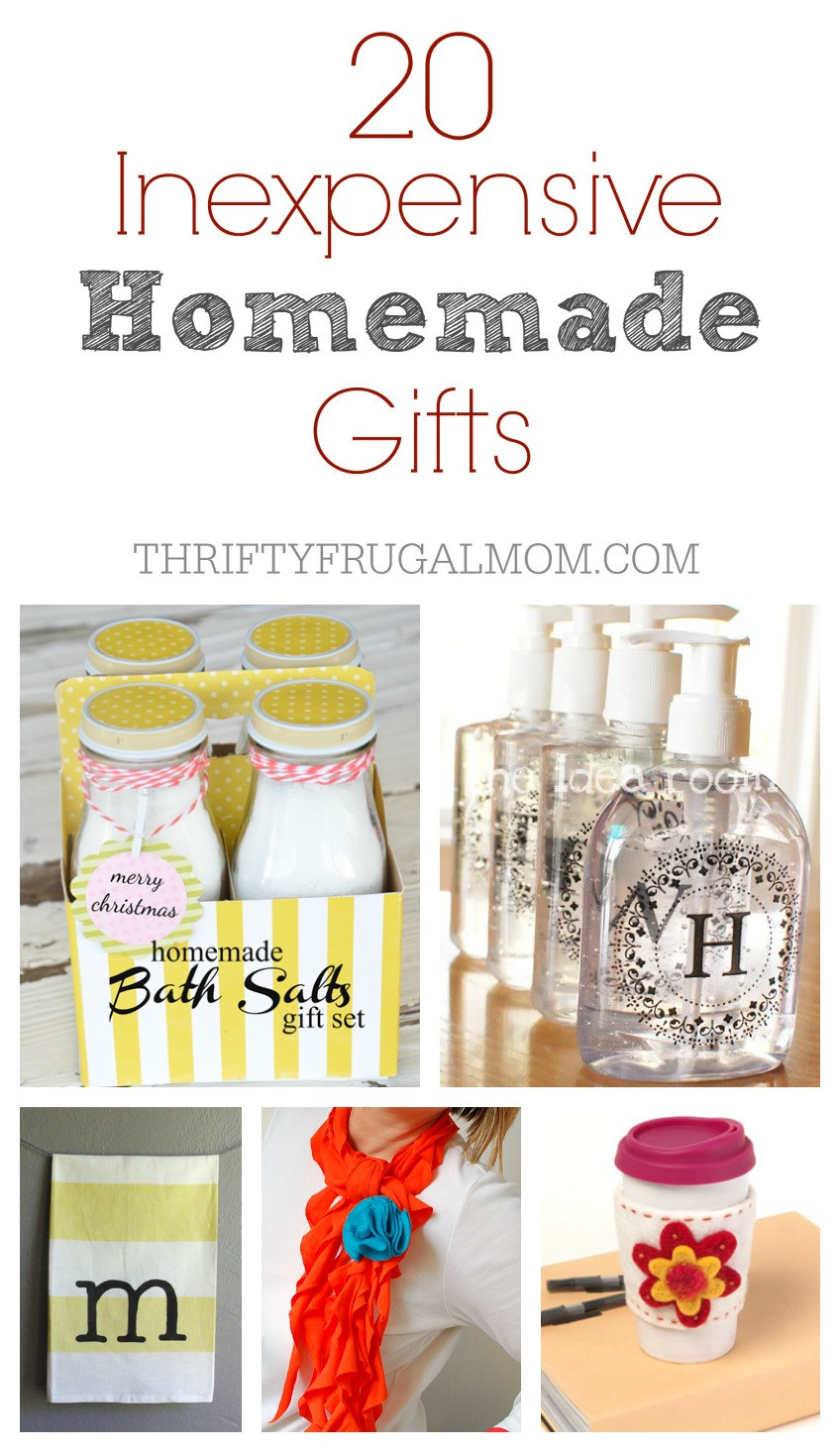 Best ideas about Cheap Holiday Gift Ideas . Save or Pin 20 Inexpensive Homemade Gift Ideas Now.