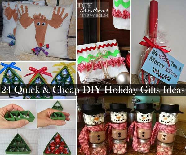 Best ideas about Cheap Holiday Gift Ideas . Save or Pin 24 Quick and Cheap DIY Christmas Gifts Ideas DIY Craft Now.