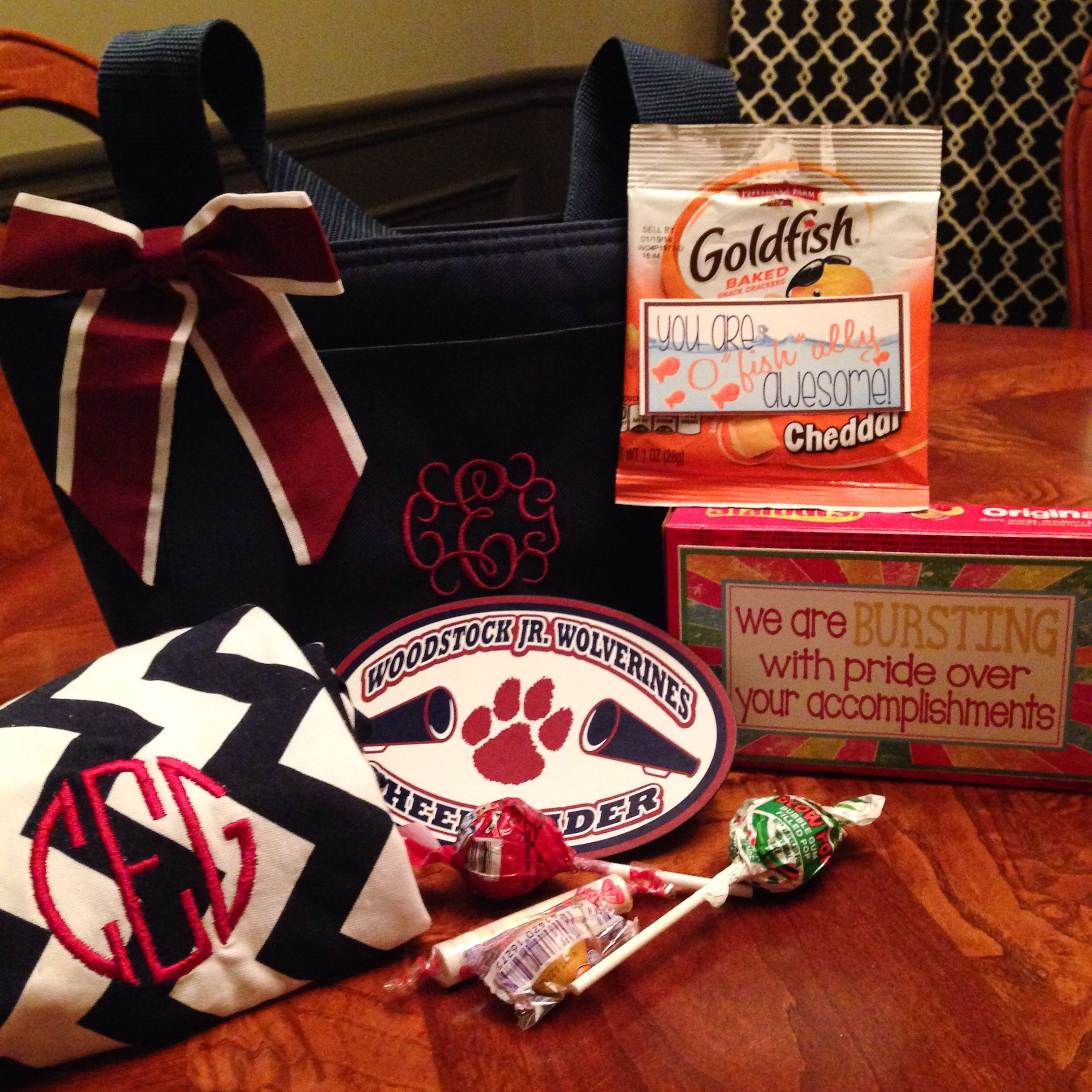 Best ideas about Cheerleader Gift Bags Ideas . Save or Pin Cheerleader goo bag Love our team Swag Bag Now.
