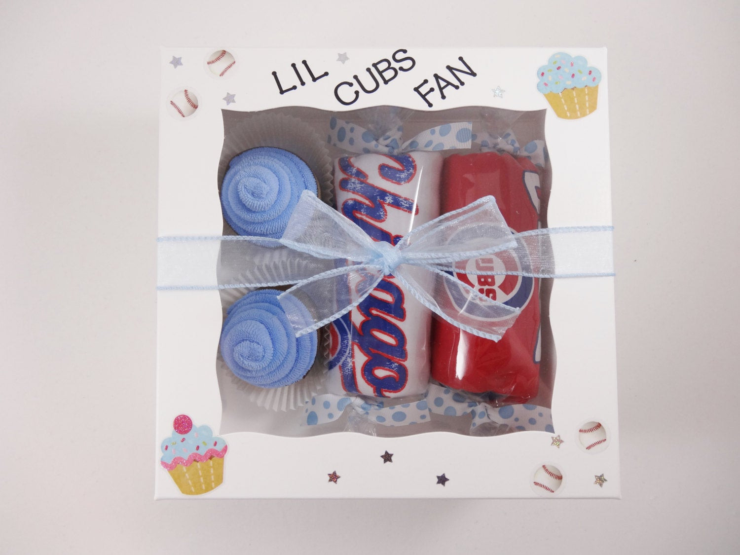 Best ideas about Chicago Cubs Gift Ideas . Save or Pin Chicago Cubs Baby Gift Washcloth Cupcakes Bodysuit Can s Box Now.
