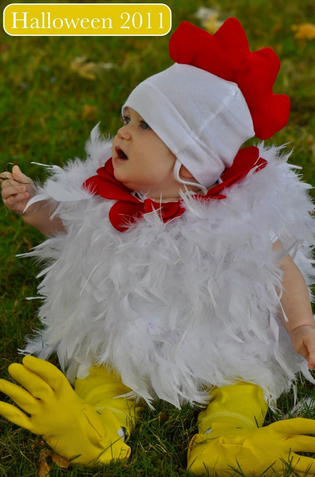 Best ideas about Chicken Costume DIY . Save or Pin DIY Halloween costume for baby and toddler chicken Now.
