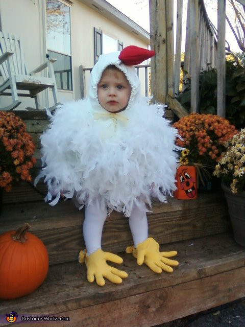 Best ideas about Chicken Costume DIY . Save or Pin Homemade Halloween Chicken Costume Now.