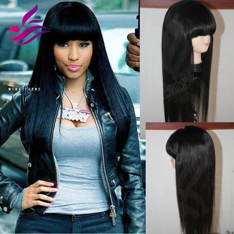 Best ideas about Chinese Bangs Black Hairstyle . Save or Pin Thick Chinese Bangs Brazilian Silky Straight Virgin Hair Now.