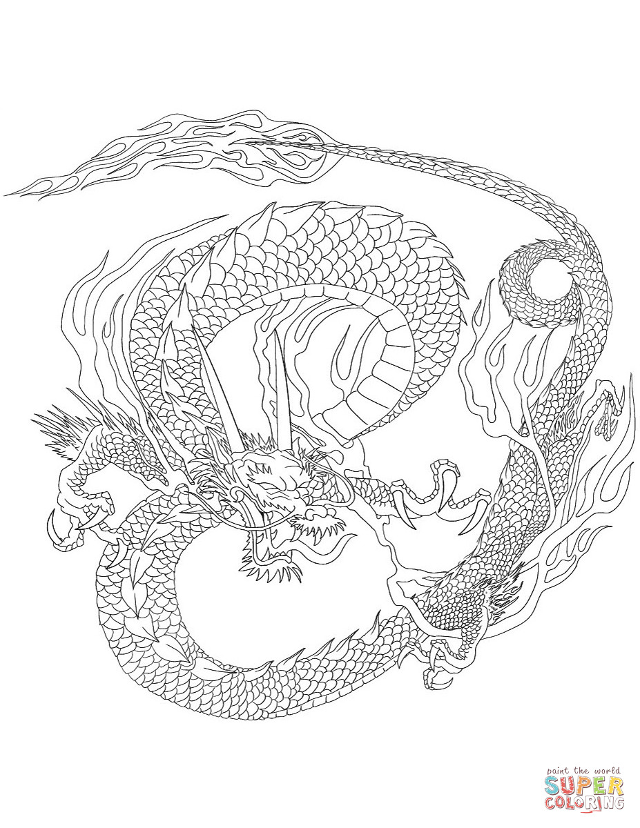 Best ideas about Chinese Dragon Free Printable Coloring Sheets . Save or Pin Chinese Dragon coloring page Now.