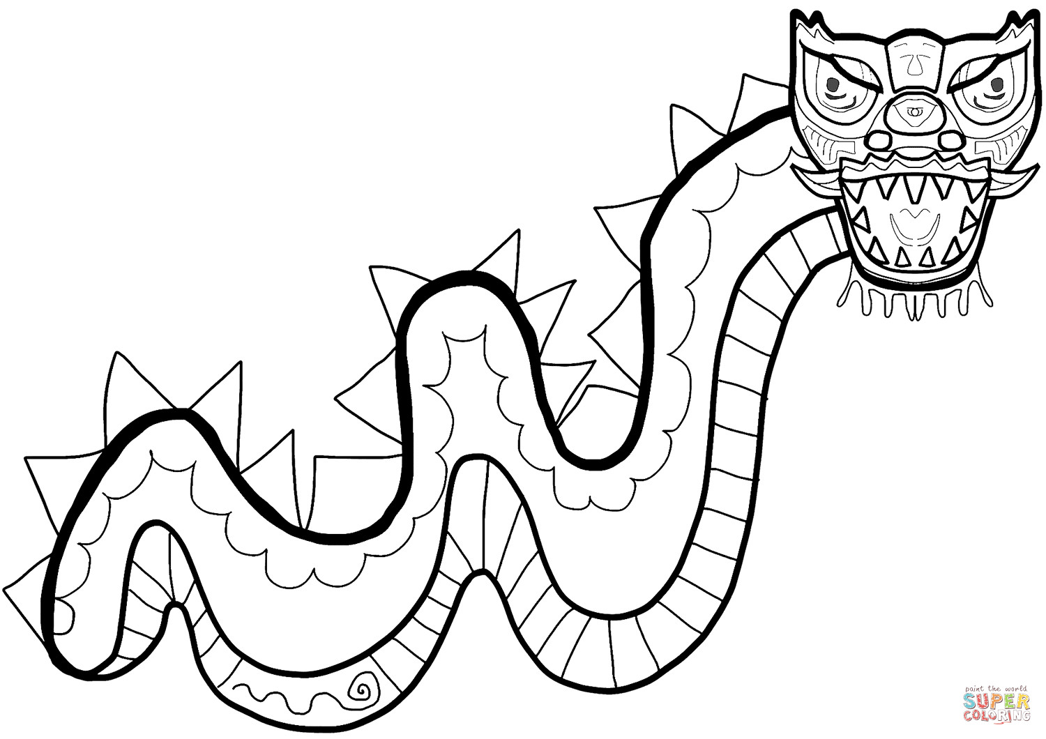 Best ideas about Chinese Dragon Free Printable Coloring Sheets . Save or Pin Chinese New Year Dragon coloring page Now.