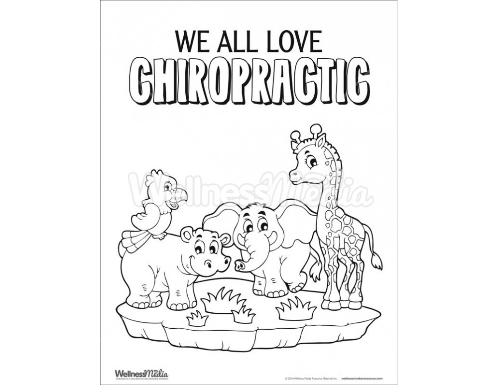 Best ideas about Chiropractic Coloring Pages For Kids . Save or Pin Chiropractic Coloring Sheet Now.