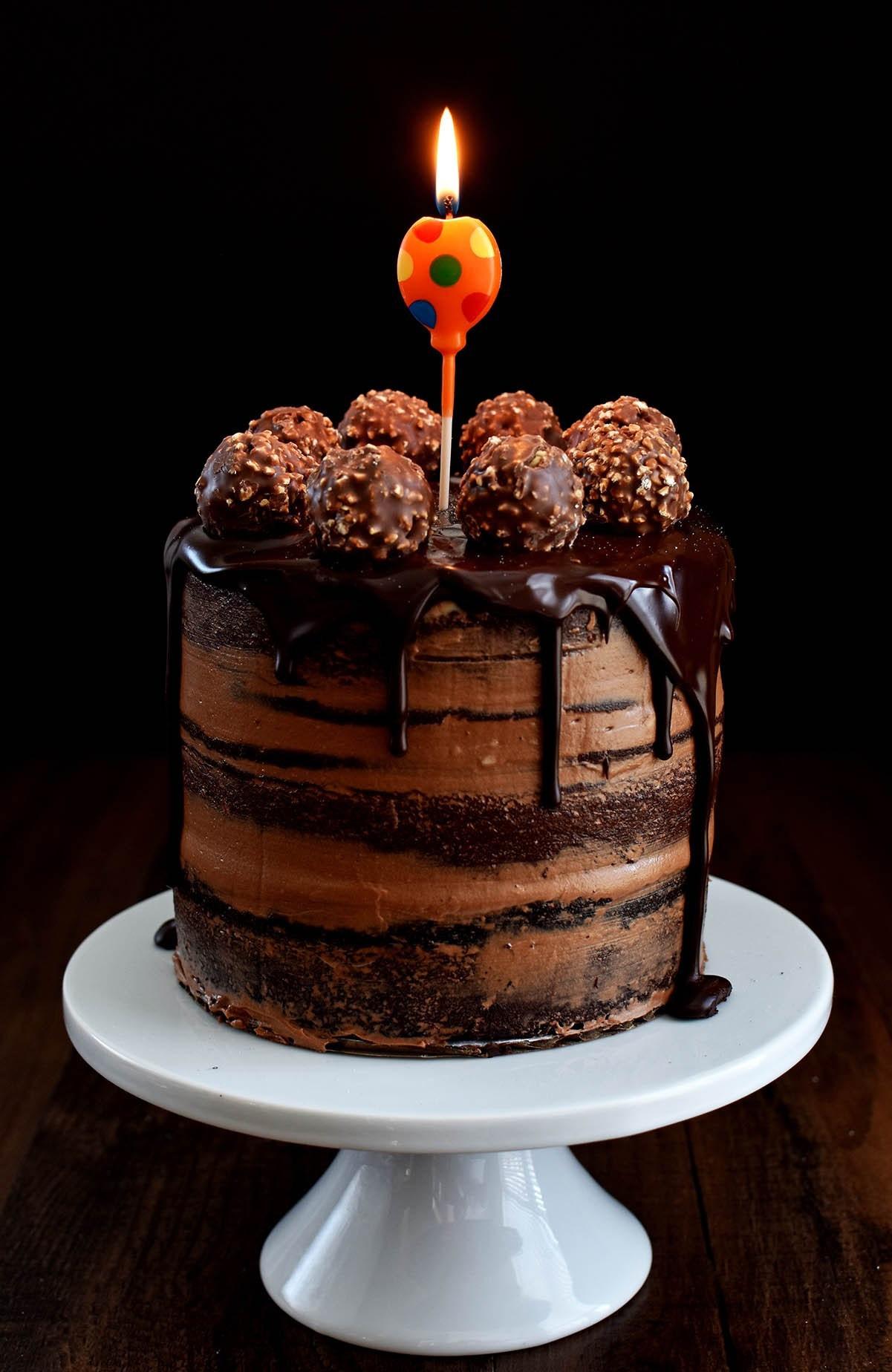Best ideas about Chocolate Birthday Cake Recipes . Save or Pin Chocolate Hazelnut Semi Naked Cake with Dark Chocolate Now.
