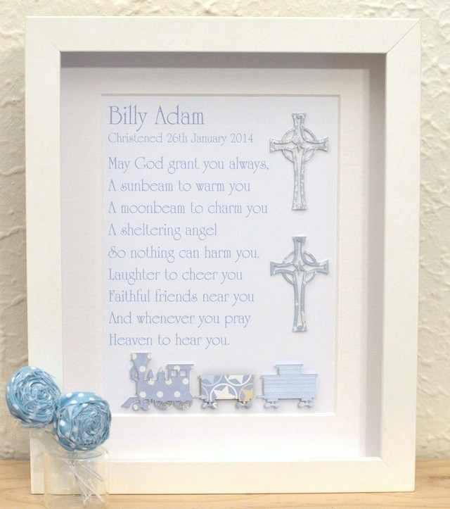 Best ideas about Christening Gift Ideas For Baby Boy . Save or Pin Classic Baby Boys Unique Christening Baptism Poem Gifts Now.