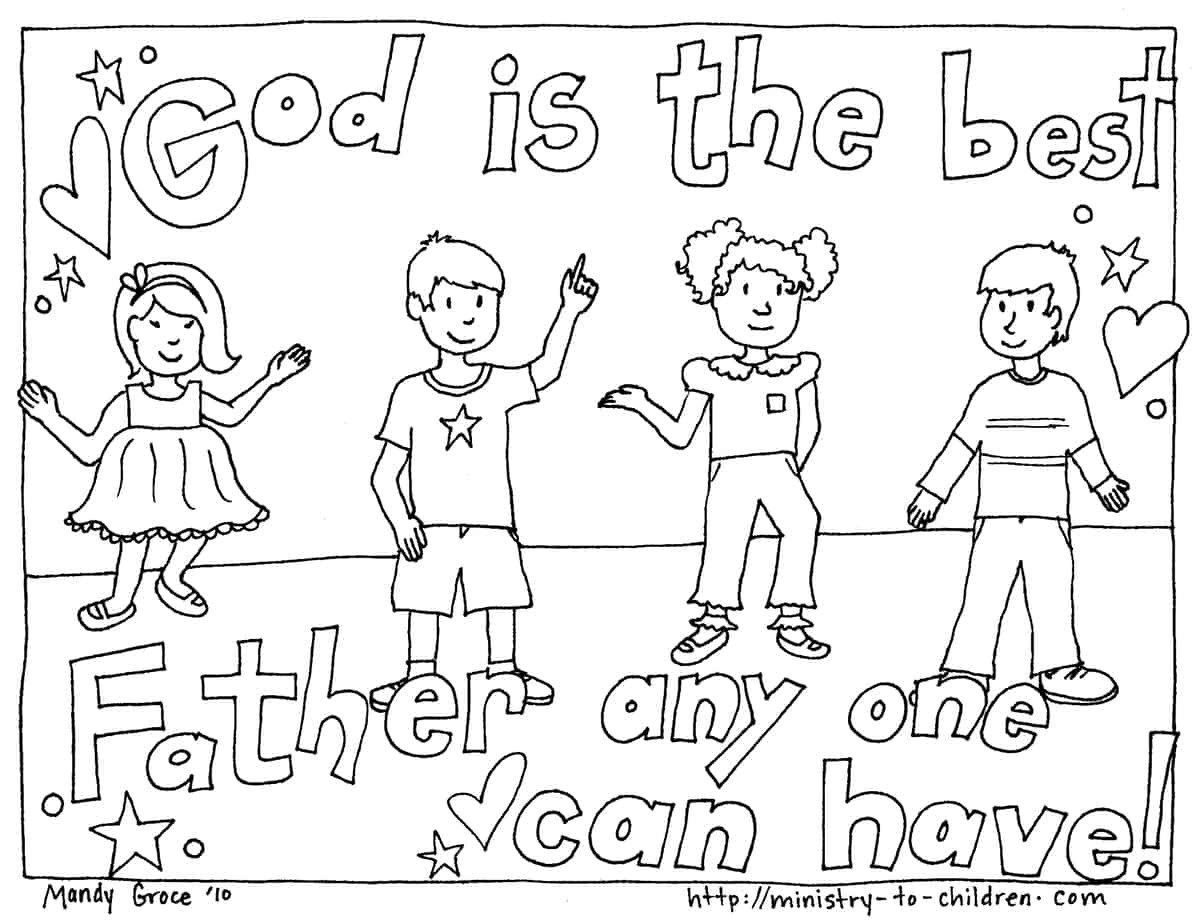 Best ideas about Christian Coloring Pages For Kids . Save or Pin Father s Day Coloring Pages Free Easy Print PDF Now.