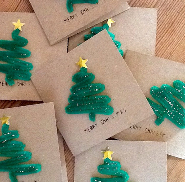 Best ideas about Christmas Card Craft Ideas . Save or Pin Christmas Card Craft Ideas Now.