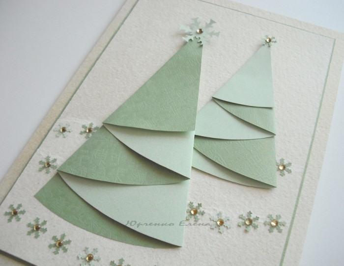 Best ideas about Christmas Card Craft Ideas . Save or Pin christmas craft ideas christmas tree cards crafts ideas Now.