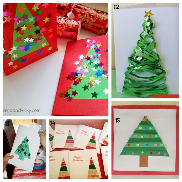 Best ideas about Christmas Card Craft Ideas . Save or Pin Learn with Play at Home 25 Christmas Card ideas Kids can Now.