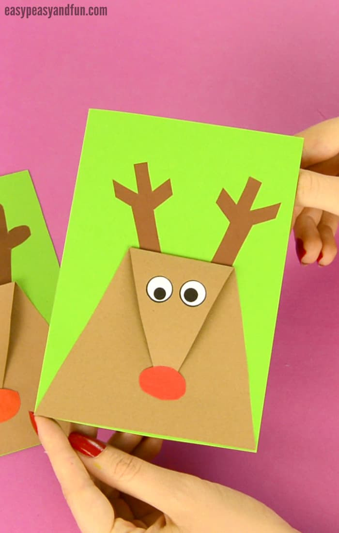 Best ideas about Christmas Card Craft Ideas . Save or Pin Reindeer Christmas Card Easy Peasy and Fun Now.