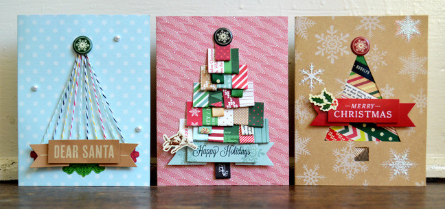 Best ideas about Christmas Card Craft Ideas . Save or Pin The first of three bonus Christmas cards by Paige Evans Now.