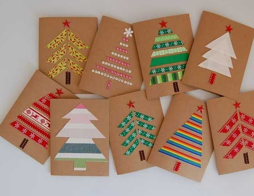 Best ideas about Christmas Card Craft Ideas . Save or Pin Christmas Cards Using Recycled Materials – OUR BILINGUAL BLOG Now.