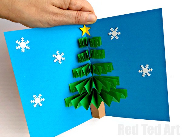 Best ideas about Christmas Card Craft Ideas . Save or Pin DIY Christmas Pop Up Card Red Ted Art s Blog Now.