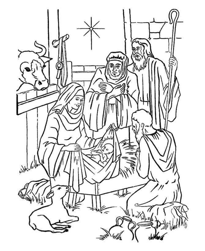 Best ideas about Christmas Christian Coloring Pages For Kids . Save or Pin Christian Christmas Coloring Pages For Kids AZ Coloring Now.