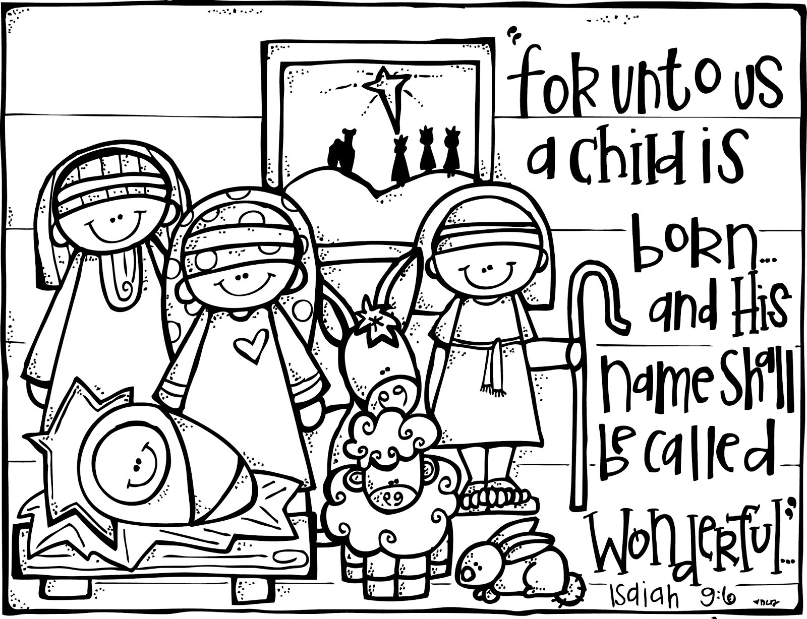 Best ideas about Christmas Christian Coloring Pages For Kids . Save or Pin MelonHeadz Freebies Christmas Now.