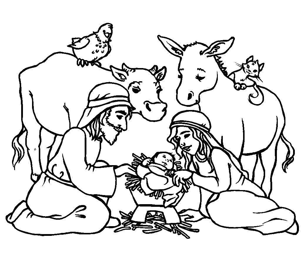 Best ideas about Christmas Christian Coloring Pages For Kids . Save or Pin Religious Coloring Now.