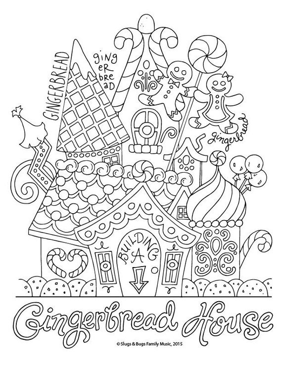Best ideas about Christmas Coloring Pages For Adults Pdf . Save or Pin Gingerbread House Christmas Coloring Page Kids Holiday Now.