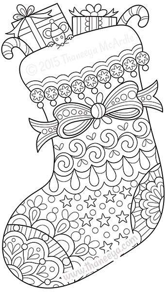 Best ideas about Christmas Coloring Pages For Adults Pdf . Save or Pin Color Christmas Coloring Book by Thaneeya McArdle Now.