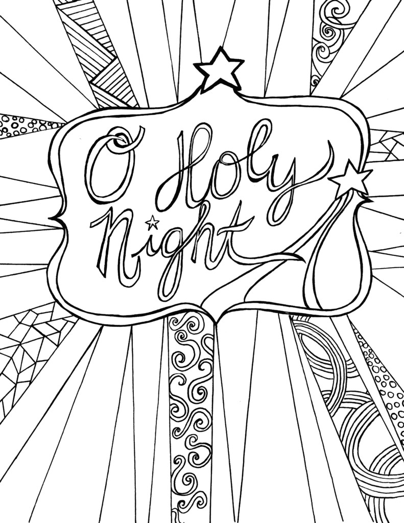 Best ideas about Christmas Coloring Pages For Adults Pdf . Save or Pin O Holy Night Free Adult Coloring Sheet Printable Now.