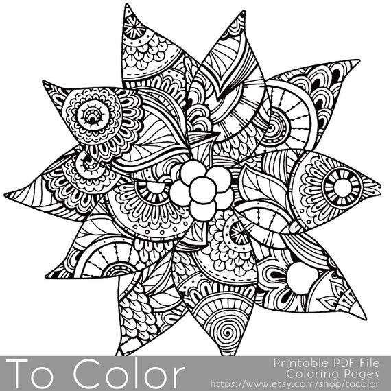 Best ideas about Christmas Coloring Pages For Adults Pdf . Save or Pin Christmas Coloring Page for Adults Poinsettia Coloring Page Now.