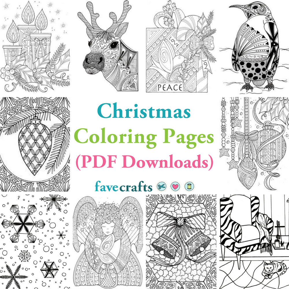 Best ideas about Christmas Coloring Pages For Adults Pdf . Save or Pin 18 Christmas Coloring Pages PDF Downloads Now.