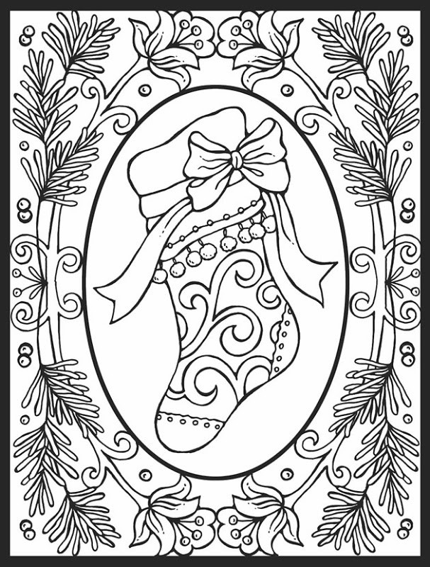 Best ideas about Christmas Coloring Pages For Adults Pdf . Save or Pin Christmas Coloring Pages for Adults 2019 Dr Odd Now.