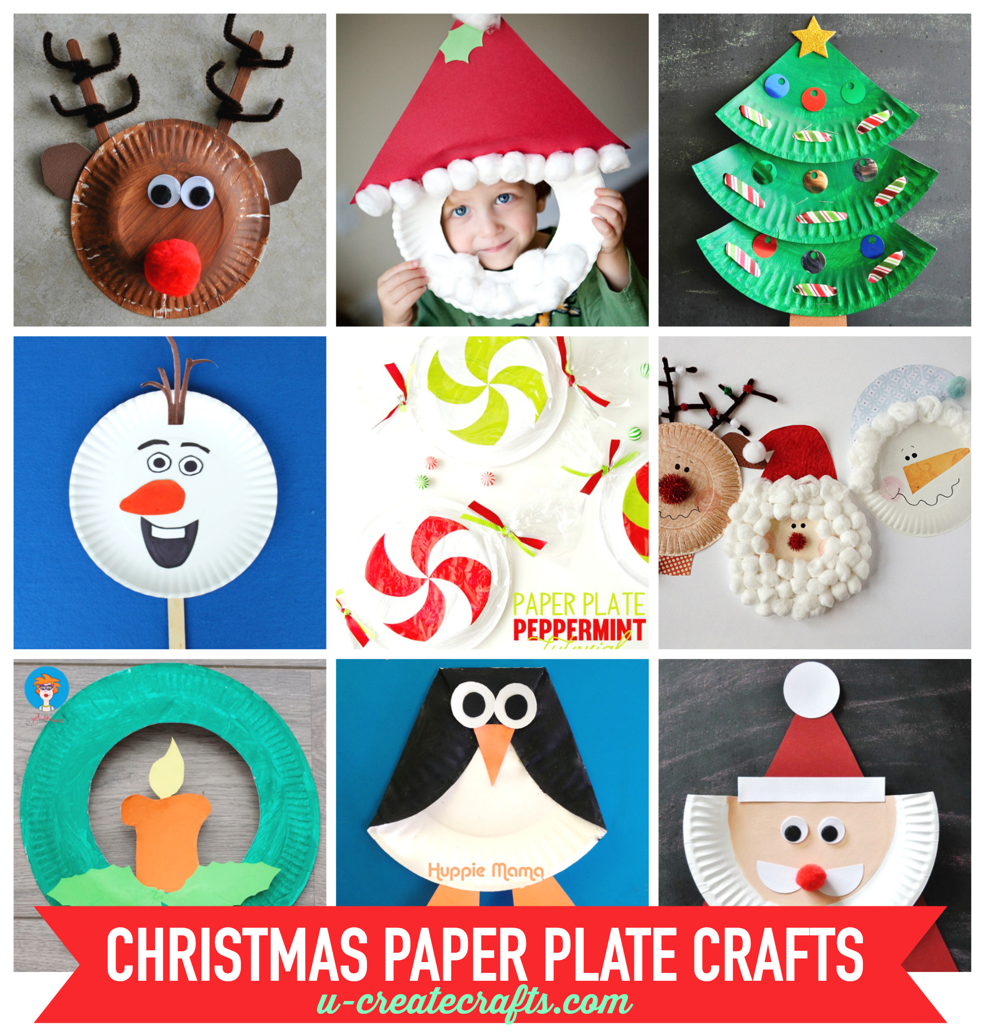 Best ideas about Christmas Craft Ideas For Children . Save or Pin Paper Plate Christmas Crafts U Create Now.