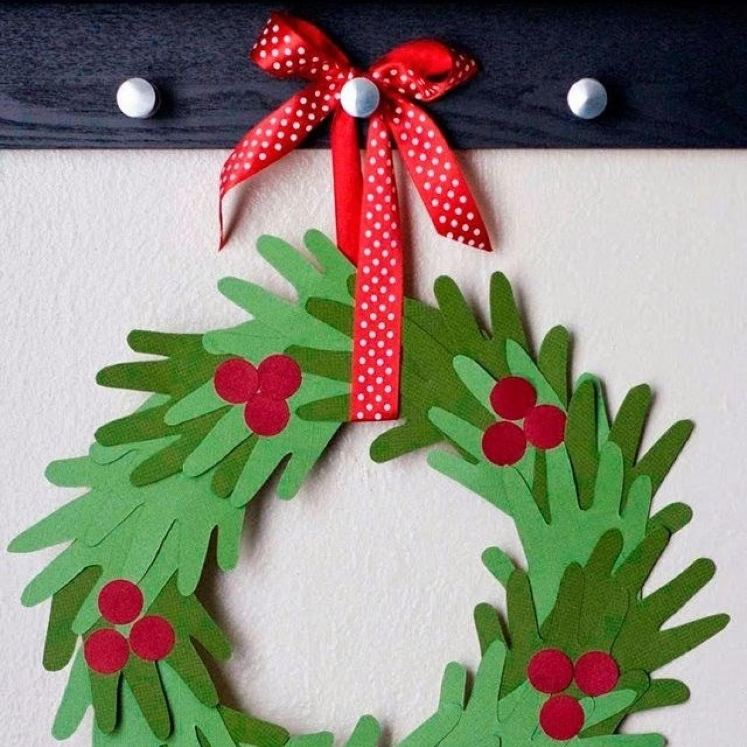 Best ideas about Christmas Craft Ideas For Children . Save or Pin 10 Handprint Christmas Crafts for Kids Now.