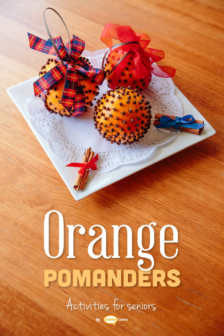 Best ideas about Christmas Crafts For Seniors . Save or Pin Christmas Pomanders Now.