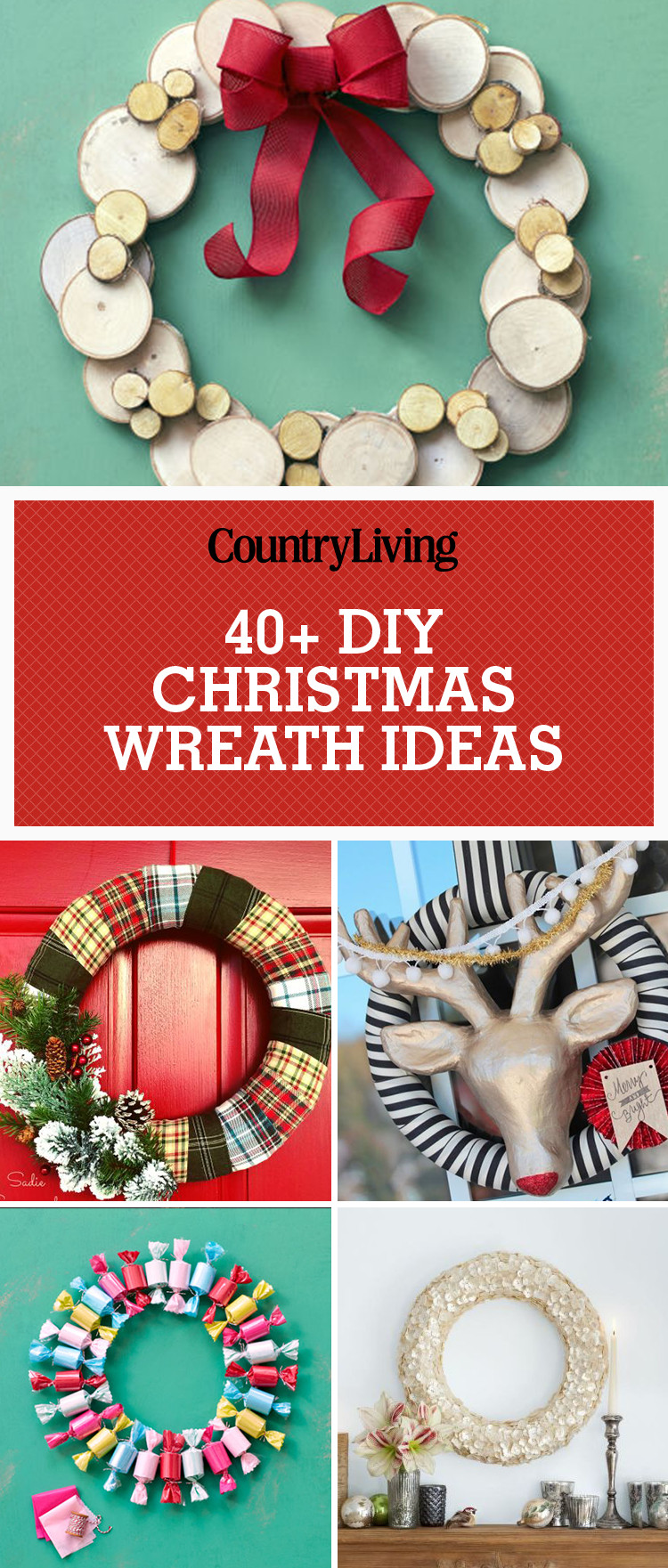 Best ideas about Christmas Decoration DIY Pinterest . Save or Pin 40 DIY Christmas Wreath Ideas How To Make Holiday Now.