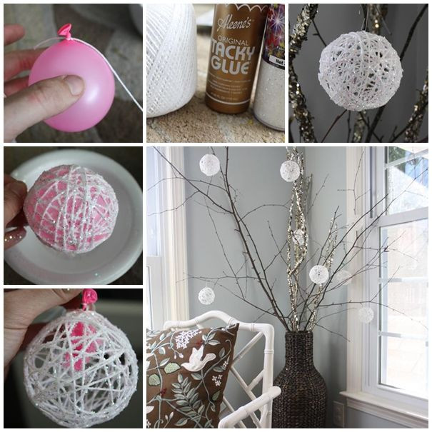 Best ideas about Christmas Decoration DIY Pinterest . Save or Pin DIY Christmas Snowball Ornaments s and Now.