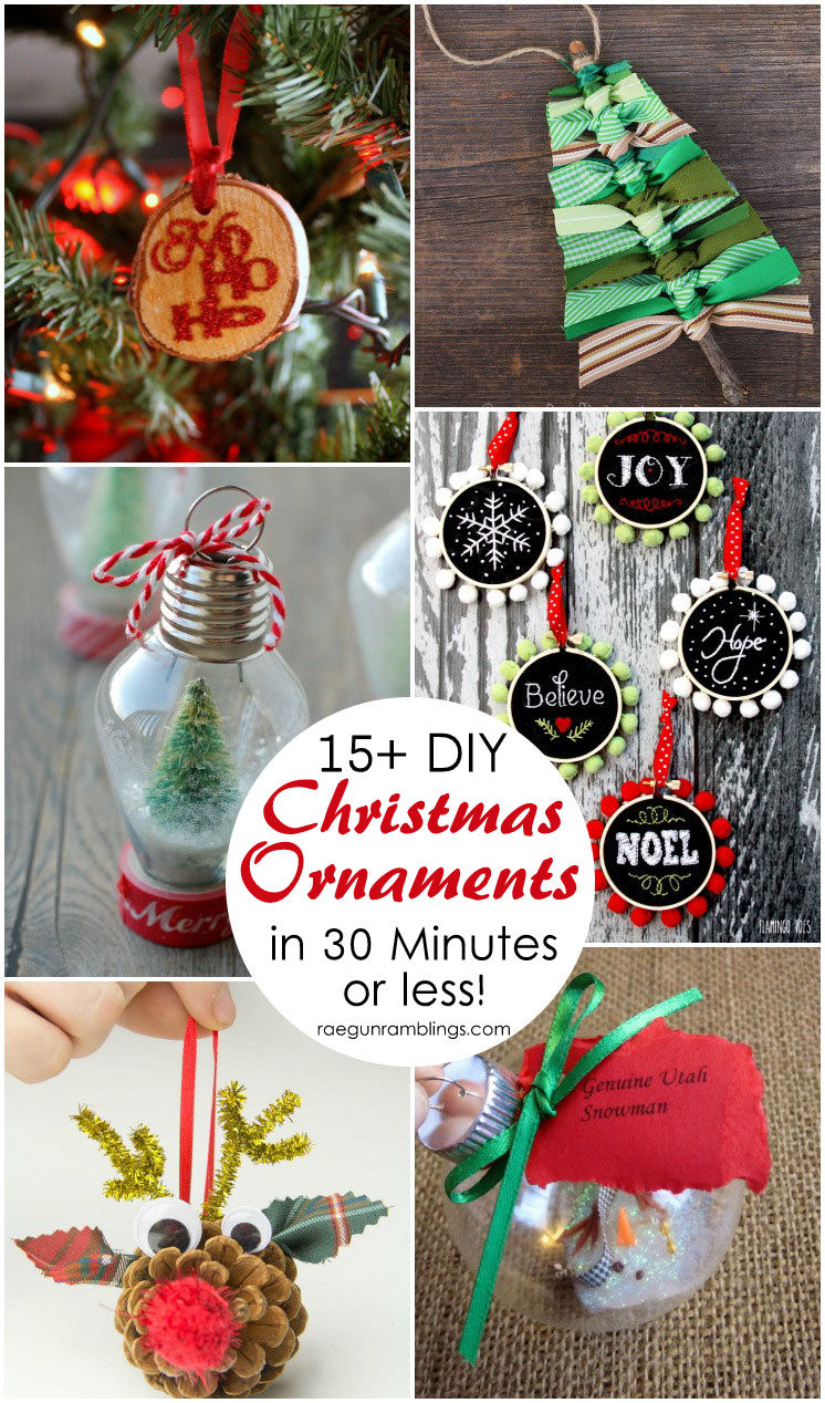 Best ideas about Christmas DIY Decorations . Save or Pin 15 DIY Christmas Ornament Tutorials Rae Gun Ramblings Now.