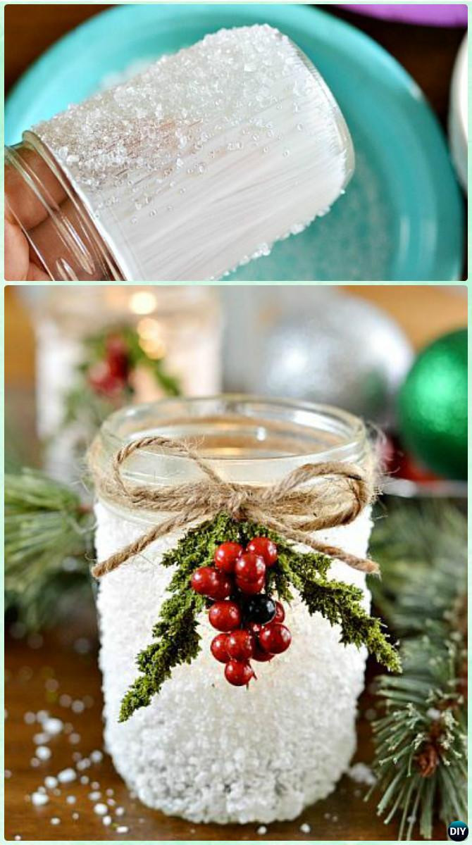 Best ideas about Christmas DIY Ideas . Save or Pin DIY Christmas Mason Jar Lighting Craft Ideas [Picture Now.