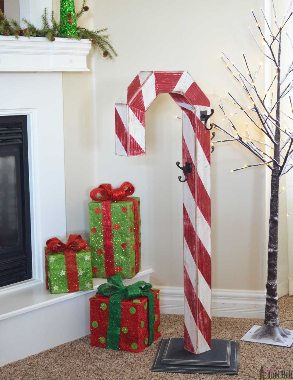 Best ideas about Christmas DIY Ideas . Save or Pin Candy Cane Holiday Stocking Post Her Tool Belt Now.