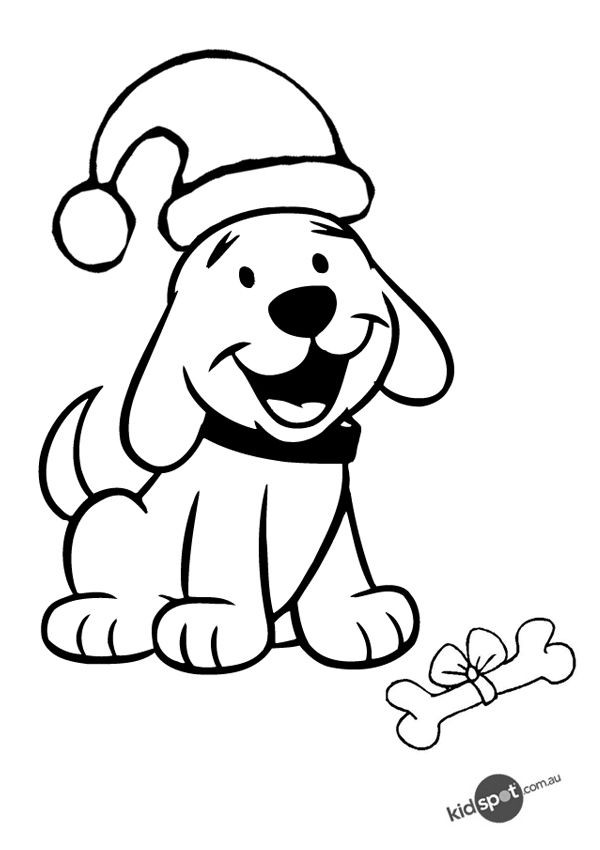Best ideas about Christmas Dog Coloring Pages For Kids . Save or Pin Free line Christmas Puppy Colouring Page signs Now.