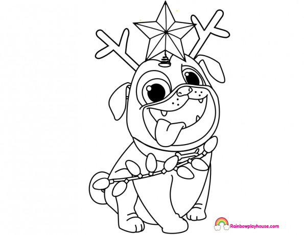 Best ideas about Christmas Dog Coloring Pages For Kids . Save or Pin Puppy Dog Pals Rolly Printable Christmas Coloring Page Now.