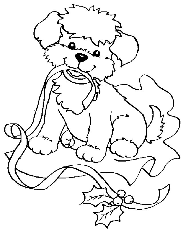 Best ideas about Christmas Dog Coloring Pages For Kids . Save or Pin Puppy Cliparts Now.