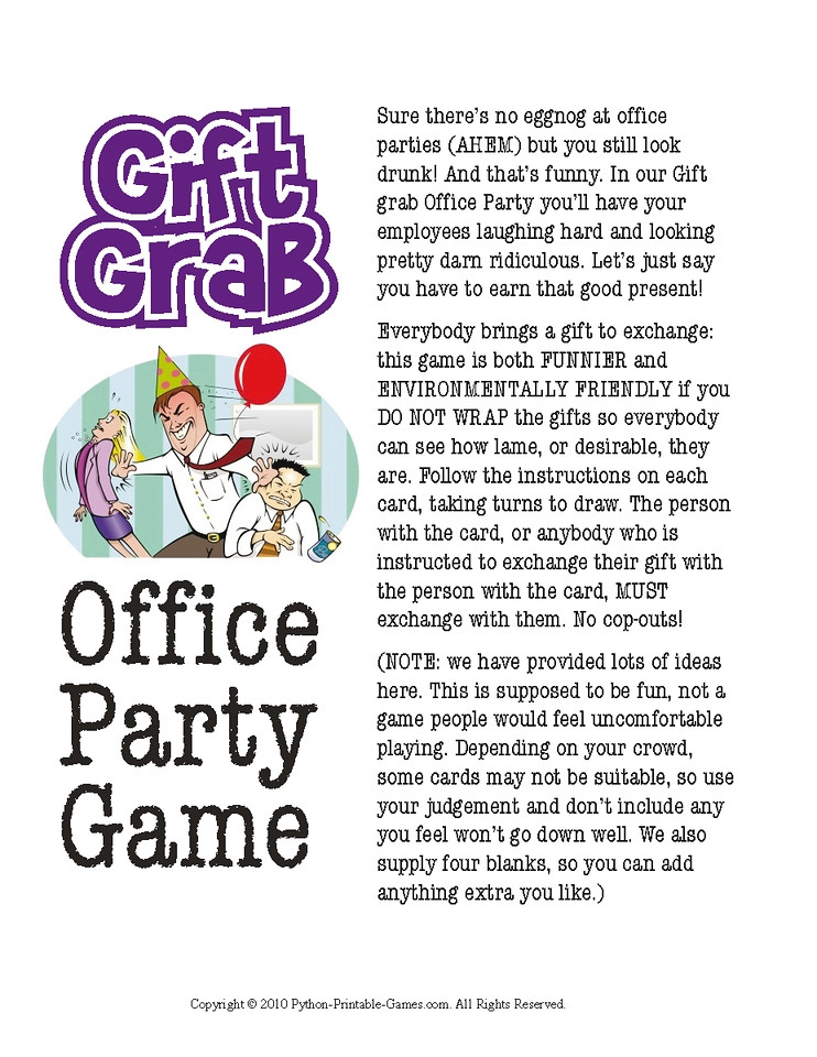 Best ideas about Christmas Gift Game Ideas . Save or Pin fice Christmas Party Games Now.