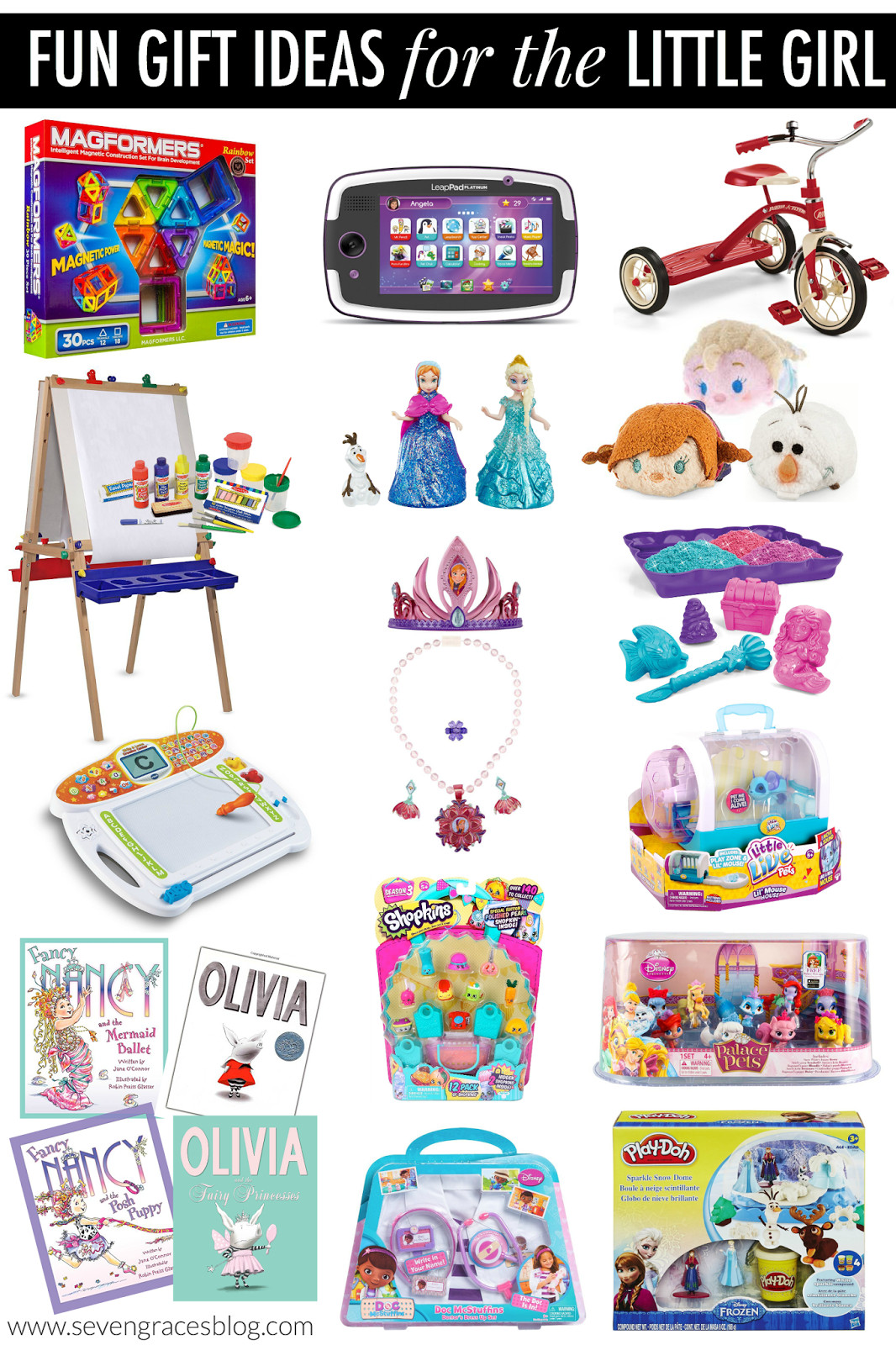 Best ideas about Christmas Gift Ideas For 12 Yr Old Girl . Save or Pin Christmas Gift Ideas for the Little Girl Seven Graces Now.