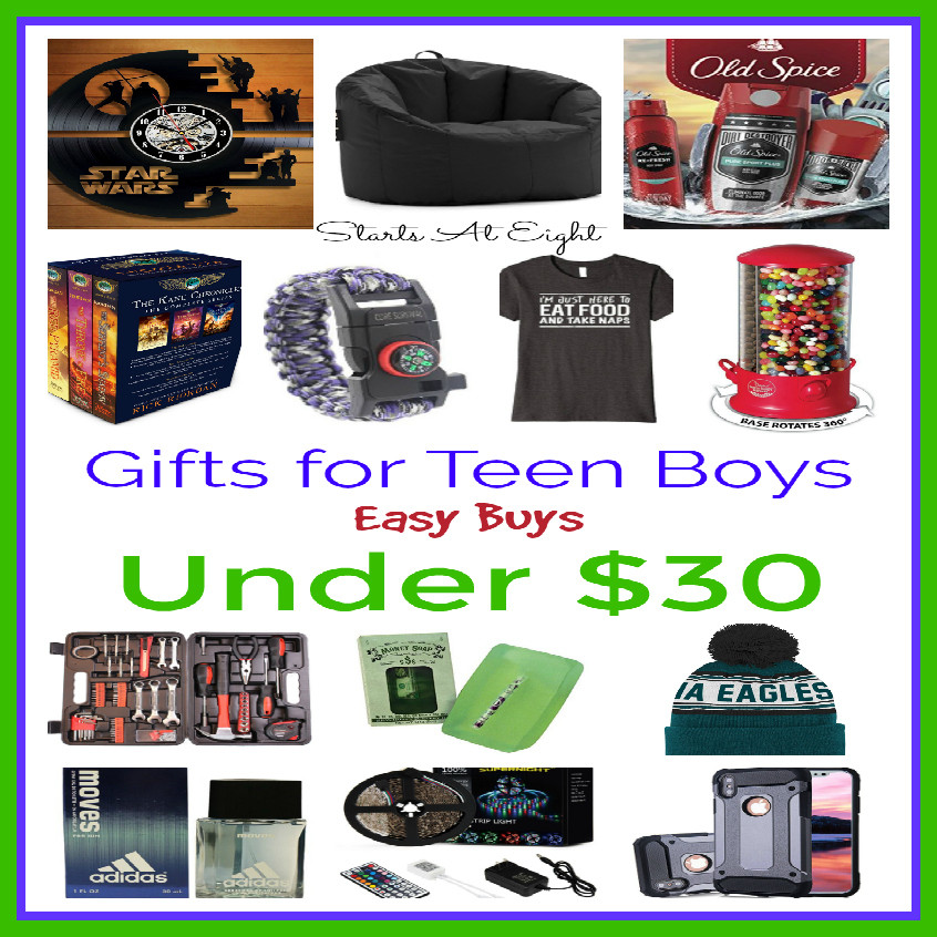 Best ideas about Christmas Gift Ideas For Boys 2019 . Save or Pin Gifts for Teen Boys Easy Buys Under $30 StartsAtEight Now.