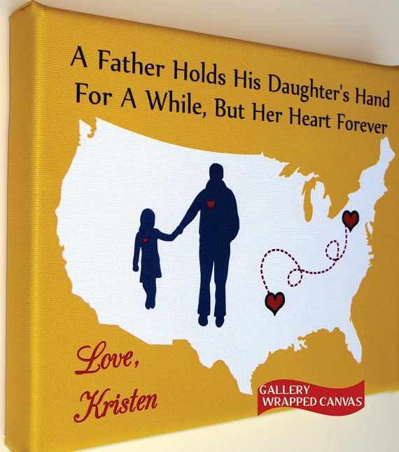 Best ideas about Christmas Gift Ideas For Dad From Daughter . Save or Pin Canvas Christmas Gift for Dad Birthday From Daughter Son Now.