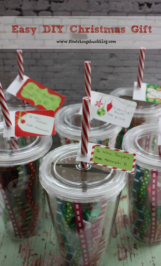 Best ideas about Christmas Gift Ideas For Employees . Save or Pin Easy DIY Christmas Tumblers filled with a t card Now.