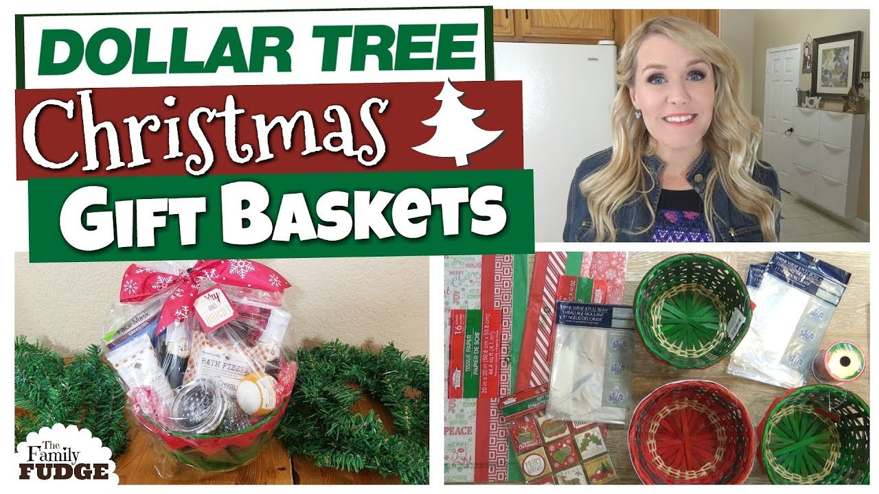 Best ideas about Christmas Gift Ideas For Family . Save or Pin 5 DIY DOLLAR TREE CHRISTMAS GIFT BASKETS 🎄 Now.