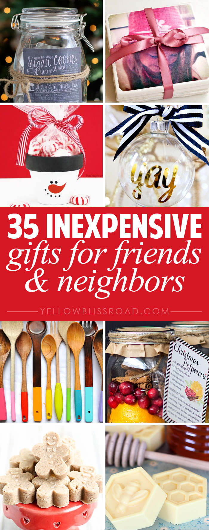 Best ideas about Christmas Gift Ideas For Friends . Save or Pin 35 Gift Ideas for Neighbors and Friends Yellow Bliss Road Now.