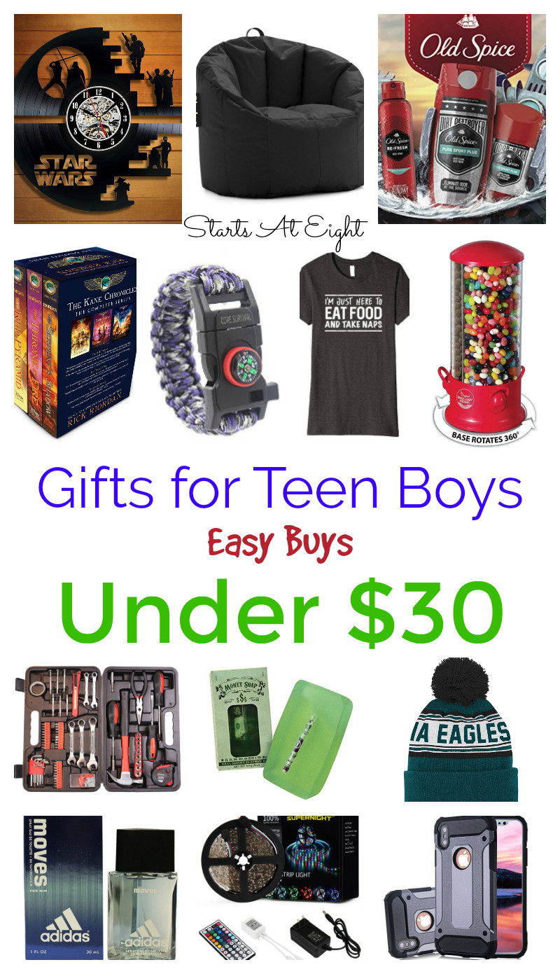 Best ideas about Christmas Gift Ideas For Teen Boys . Save or Pin Gifts for Teen Boys Easy Buys Under $30 StartsAtEight Now.