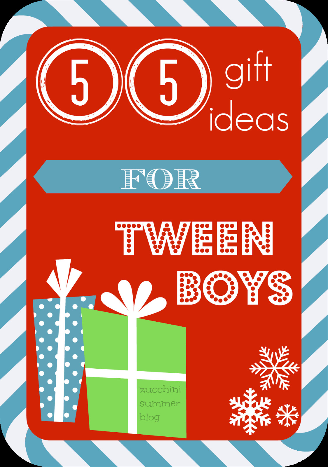 Best ideas about Christmas Gift Ideas For Tween Boys . Save or Pin Zucchini Summer 55 Christmas Gift Ideas for Tween BOYS Now.